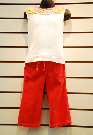 Kids 4-6x Cotton Pant Set - JK-073
